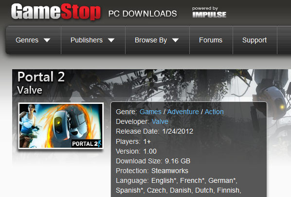 Valve Games Impulse