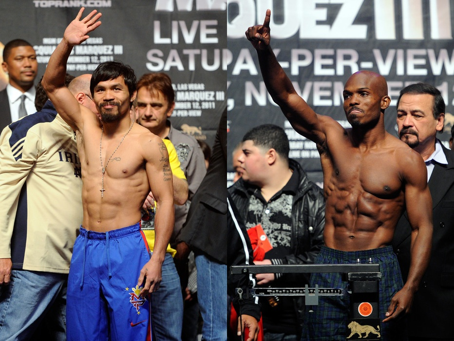 Manny Pacquiao faces Timothy Bradley on June 9 in Las Vegas. (Photos by Ethan Miller/Getty Images)