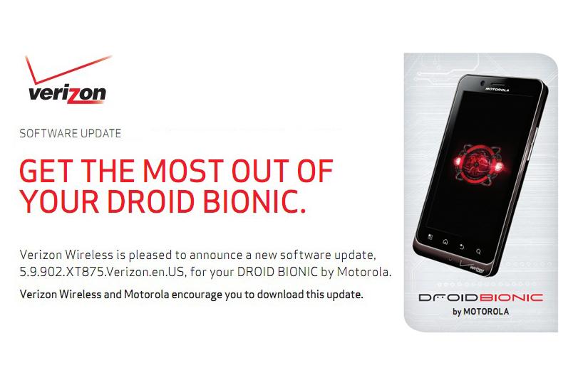 Droid Bionic Update