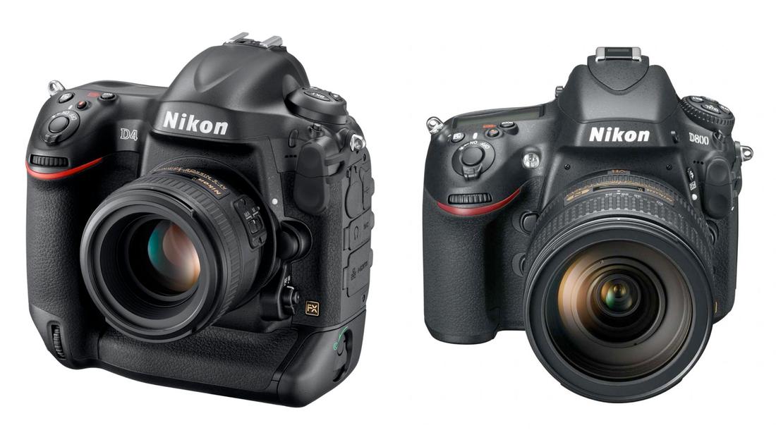 Nikon D800 and D4