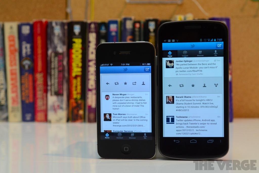 Twitter swipe to reply