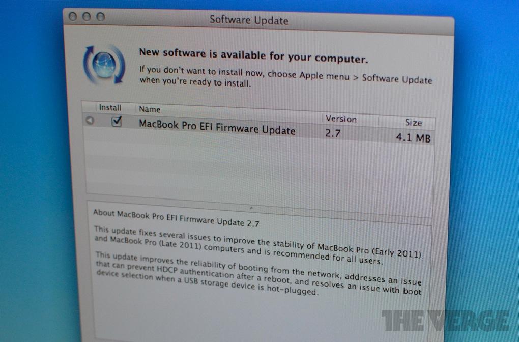 macbook pro efi firmware update 2.7