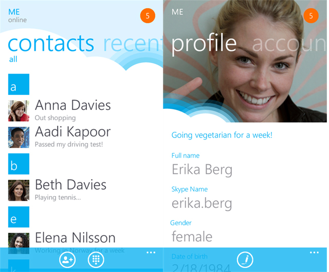 Skype for Windows Phone official