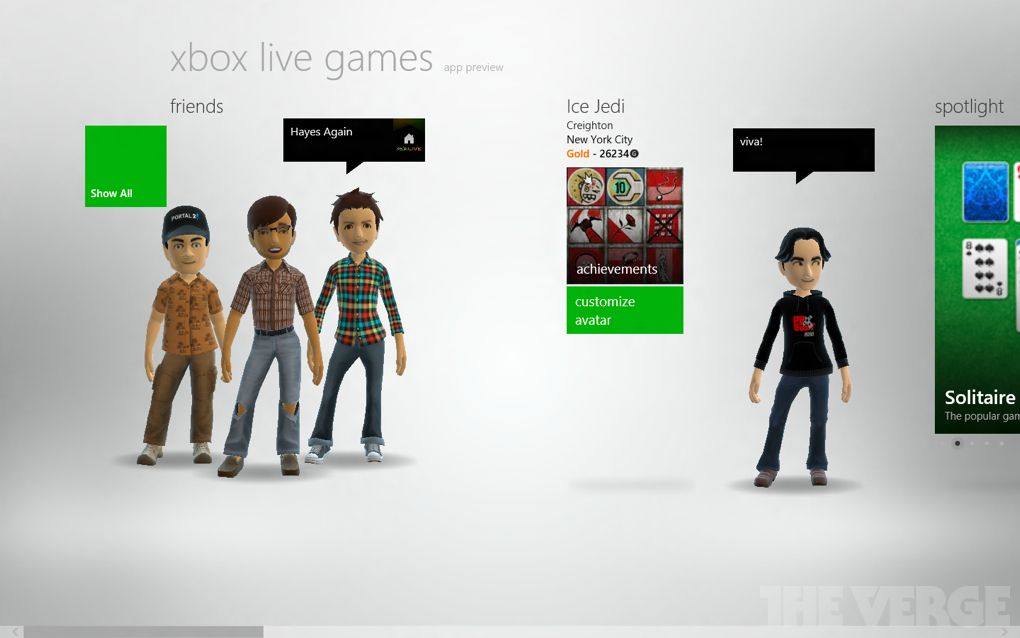 Gallery Photo: Windows 8 Xbox Live, music, and video screenshots