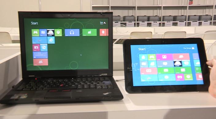 Windows 8 Touch v Keyboard