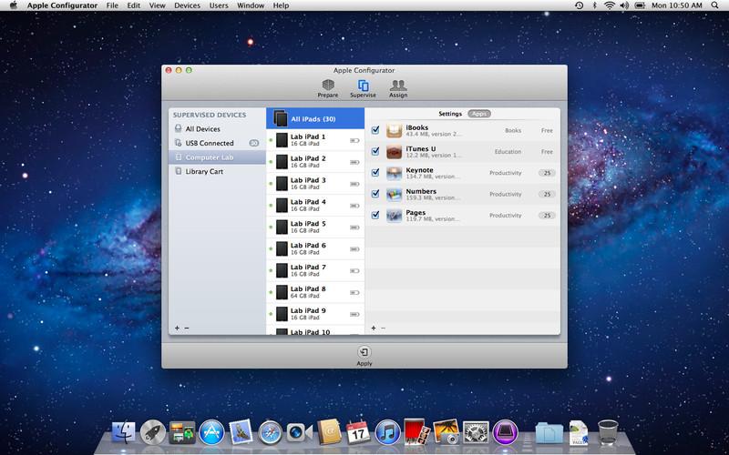 Apple Configurator screenshot