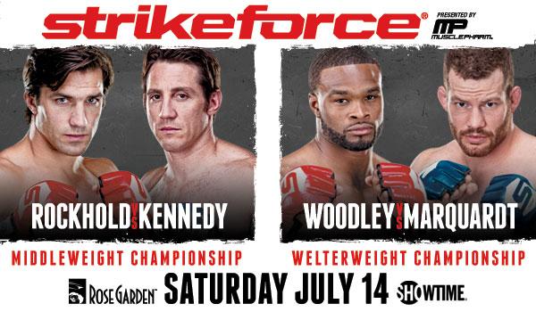 "Strikeforce: ""Rockhold vs. Kennedy"" poster pic via <a href=""https://media1.mm.ticketmaster.com/zuffa%20llc/email/SF2_600X350.JPG"">Ticketmaster.com</a>."