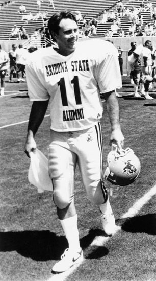 #11 was a legend in maroon and gold. Danny White. (Photo courtesy of ASU)