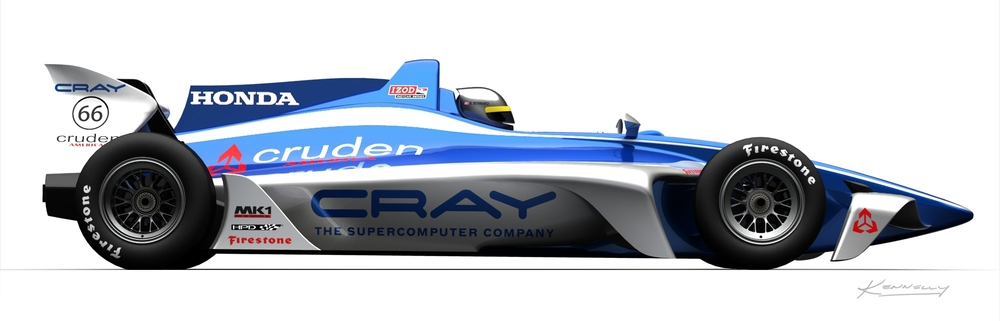 """The 2012 IndyCar concept #66 by Swift Engineering. (Photo: <a href=""""http://www.swiftengineering.com/images/news/press_releases/cray/2.jpg"""">www.swiftengineering.com</a>)"""