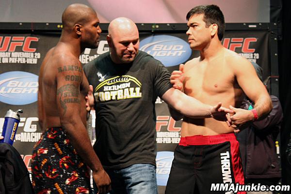 "Quinton ""Rampage"" Jackson will meet Lyoto Machida in a battle of former light-heavyweight champions in the main event of ""UFC 123: Rampage vs. Machida"" on Saturday night. Photo via <a href=""http://mmajunkie.com"">MMAJunkie.com</a>"