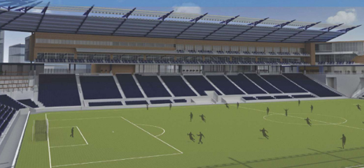 Soon to be America's finest soccer stadium.