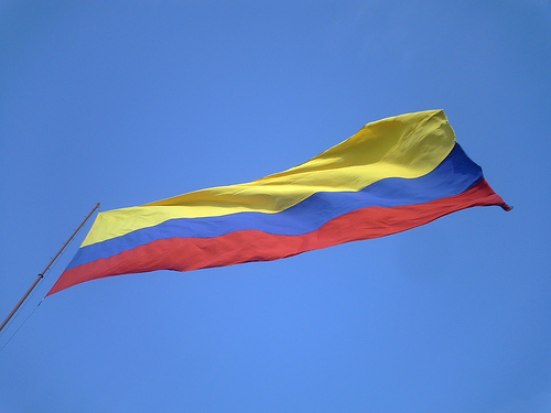 """via <a href=""""http://upload.wikimedia.org/wikipedia/commons/c/c2/Bandera_%28flag%29_de_Colombia_by_Edgar.png"""">upload.wikimedia.org</a>"""