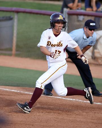 Katelyn Boyd running the bases on May 20, 2011 against North Dakota State. Photo courtesy of Steve Rodriguez.