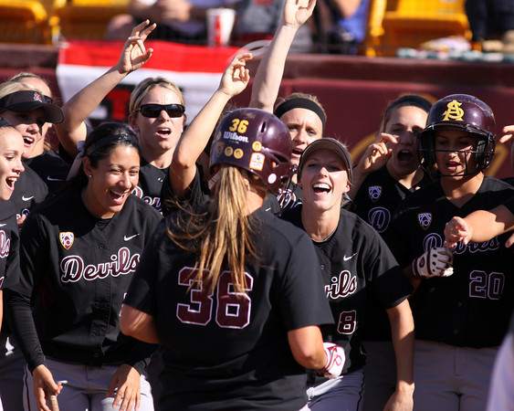The Devils celebrating during the Tempe regional on May 21, 2011. Photo courtesy of Steve Rodriguez.