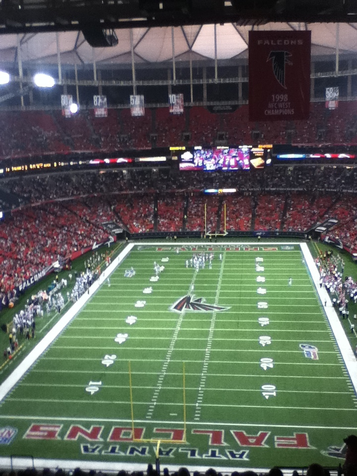 """My view of last night's game, thanks to <a href=""""http://www.790thezone.com/"""">790AM The Zone</a>."""