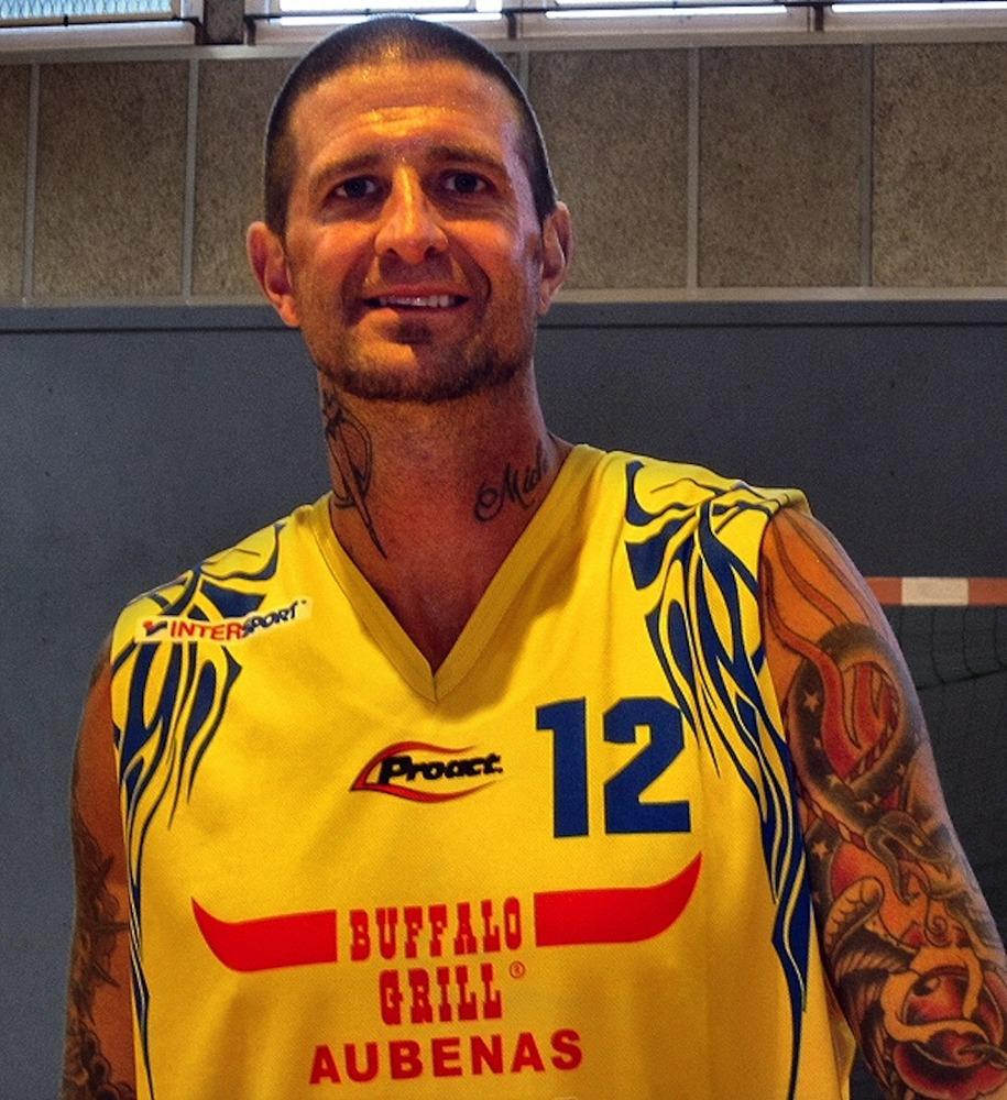 Cherokee Parks representing his Buffalo Grill-sponsored Aubenas jersey.