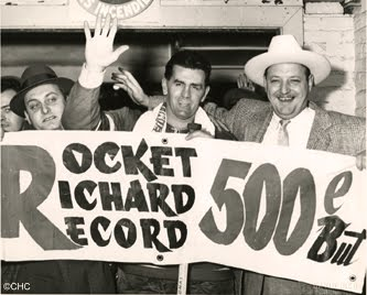 Maurice Richard became the first NHL player to record 500 goals on this day in 1957. (Photo:Montreal Canadiens)
