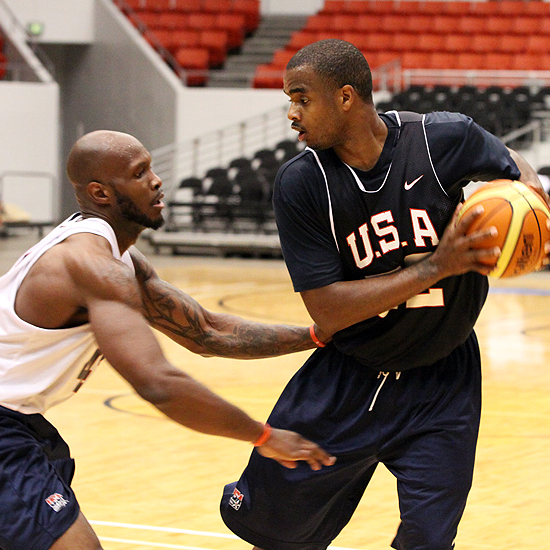 Marcus Lewis played well for Team USA as they defeated the Dominican Republic in their first game at the 2011 Pan-Am Games. <em>Photo by Steven Maikoski/USA Basketball</em>