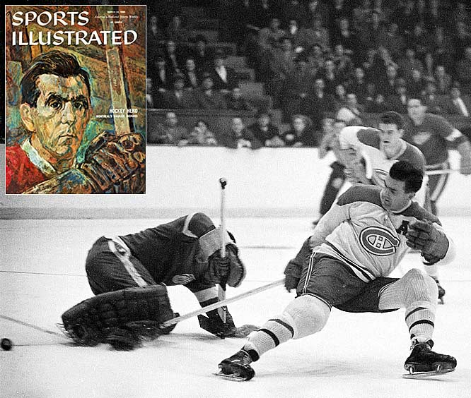 Maurice Richard signed his first contract with the Montreal Canadiens. A decade to the day later he scored his 250th NHL goal.(Photos: Sports Illustrated)