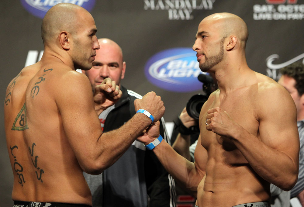 UFC 137 Weigh-ins at the Mandalay Bay Events Center on October 28, 2011 in Las Vegas, NV.