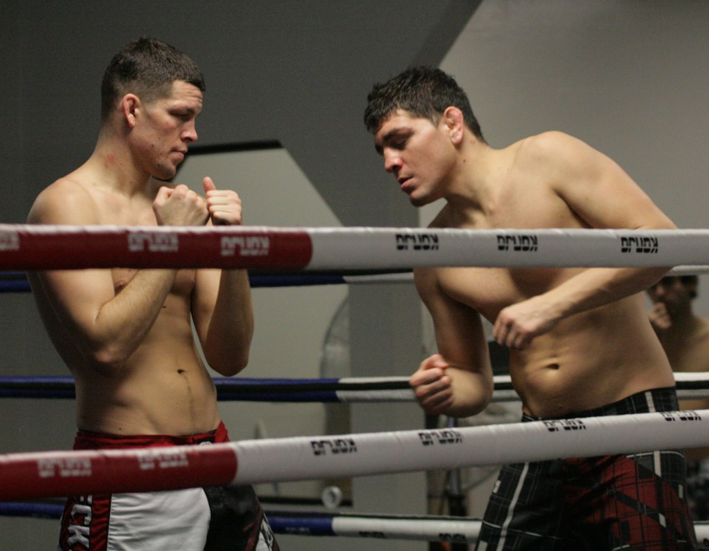 """via <a href=""""http://diazbrothers.com/wp-content/uploads/2011/02/nick-diaz-nate-diaz-after-practice1-1024x797.jpg"""">diazbrothers.com</a>"""