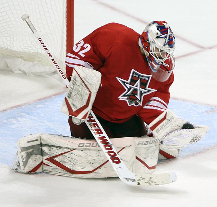 Allen Americans goaltender Rejean Beauchemin is on a two game shutout streak. Photo courtesy of CHL photos blog (www.chlphotos.com)