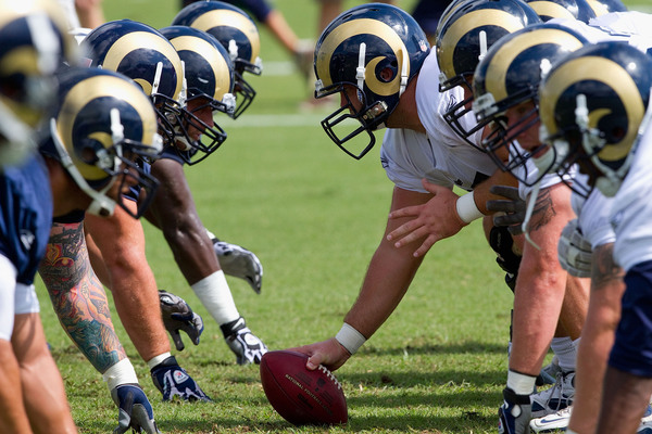 The St. Louis Rams offensive line is getting healthier every day.