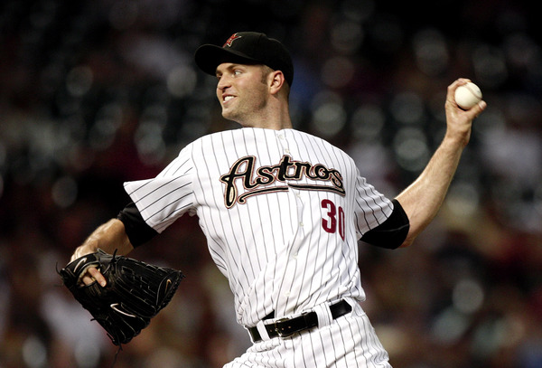 HOUSTON - AUGUST 30:  Pitcher J.A. Happ #30 of the Houston Astros throws against the St. Louis Cardinals at Minute Maid Park on August 30 2010 in Houston Texas.  (Photo by Bob Levey/Getty Images)