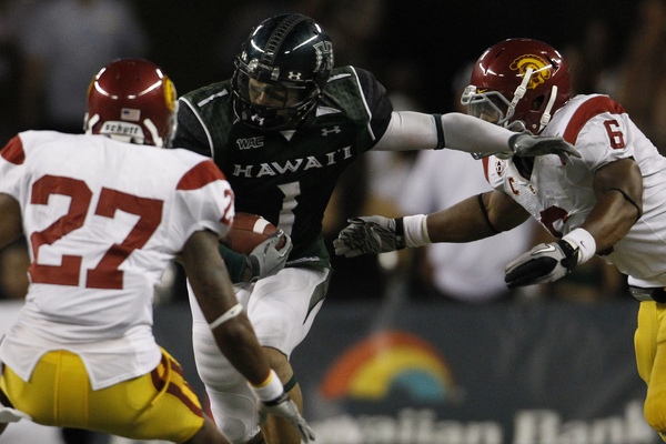 Did the St. Louis Rams get a real sleeper in wide receiver Greg Salas of the University of Hawaii?