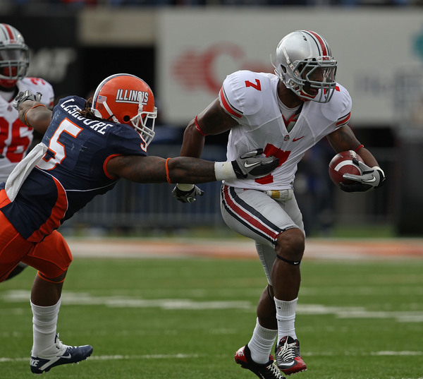 The St. Louis Rams selected Ohio State S Jermale Hines with their fifth round pick.