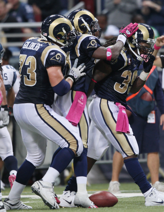 All eyes are on the right guard spot as the St. Louis Rams think about their offensive line for 2011.