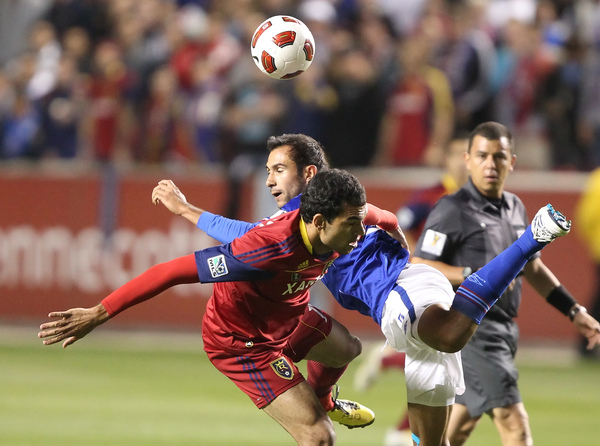 Real Salt Lake played Mexico's Cruz Azul earlier this year in a CONCACAF Champions League game. (Photo by George Frey/Getty Images)