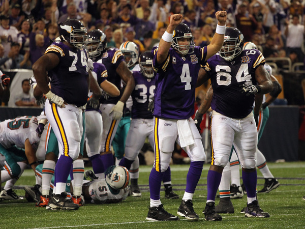 Does Brett Favre have any simulated magic left?