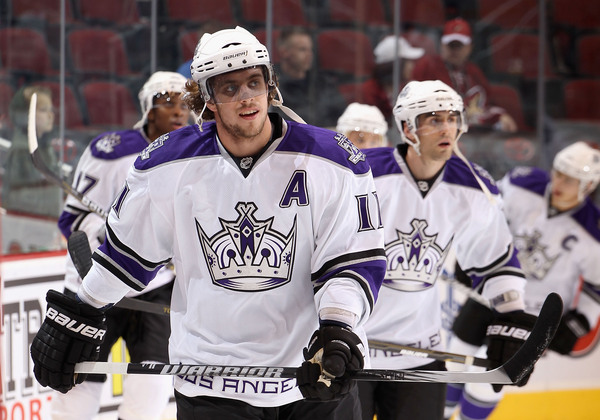 Anze Kopitar is at the head of the class halfway through the year.  (Photo by Christian Petersen/Getty Images) *** Local Caption *** Anze Kopitar