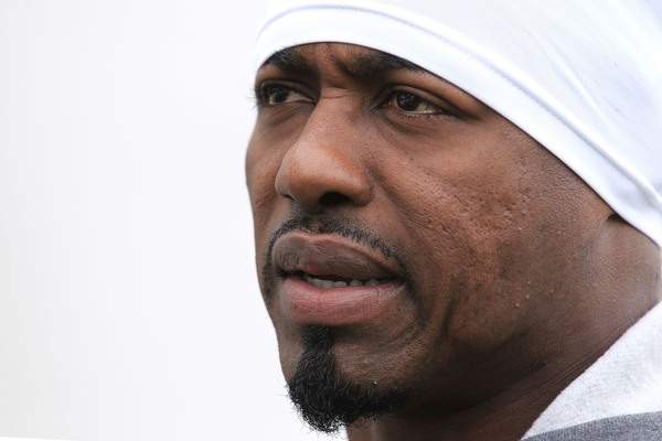"""The intense gaze of """"Weapon X"""" tells you that Broncos Safety Brian Dawkins means business.  (Photo by Chris McGrath/Getty Images)"""