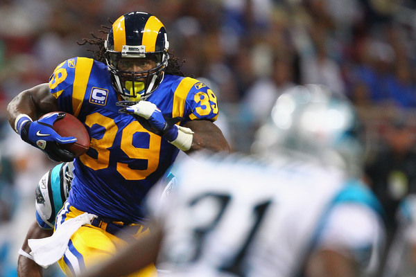 Where does Steven Jackson belong on the top-five list of the St. Louis Rams' greatest running backs in franchise history?