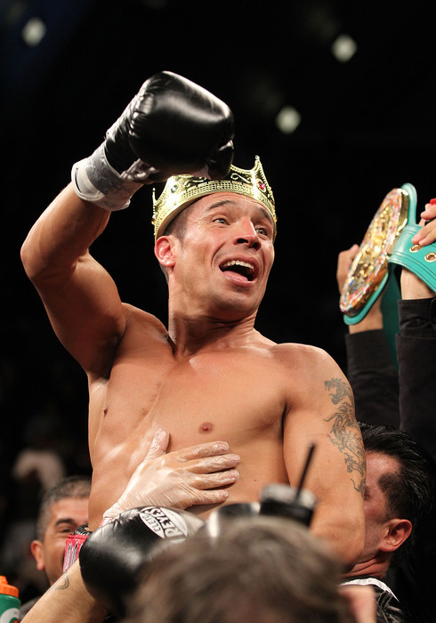 Sergio Martinez is back on March 17 in New York, facing Matthew Macklin. (Photo by Al Bello/Getty Images)