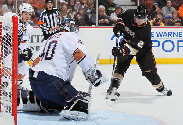 Ryan Carter was traded Tuesday by the Anaheim Ducks to the Carolina Hurricanes for minor-league forwards Stefan Chaput and Matt Kennedy.