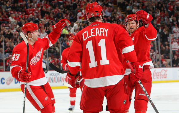 Dan Cleary has worn the #11 for 6 years in Detroit.