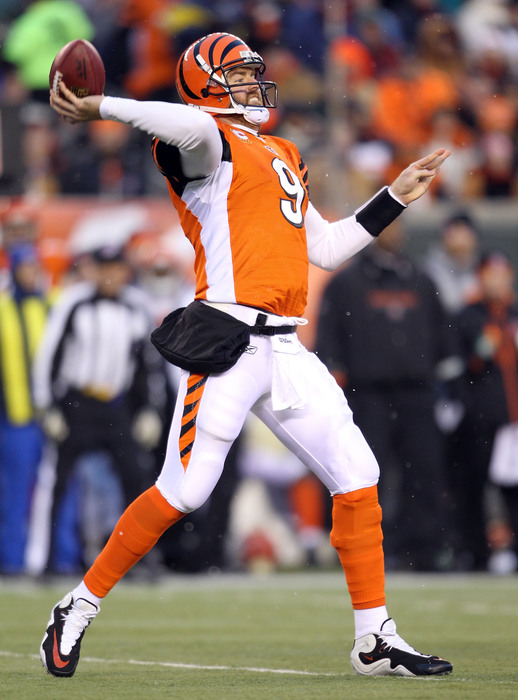 """Quarterback Carson Palmer has said that he will """"never set foot in Paul Brown Stadium"""" again. Do the Bengals think enough of his threat to take a quarterback with the fourth overall pick? (Photo by Andy Lyons/Getty Images)"""