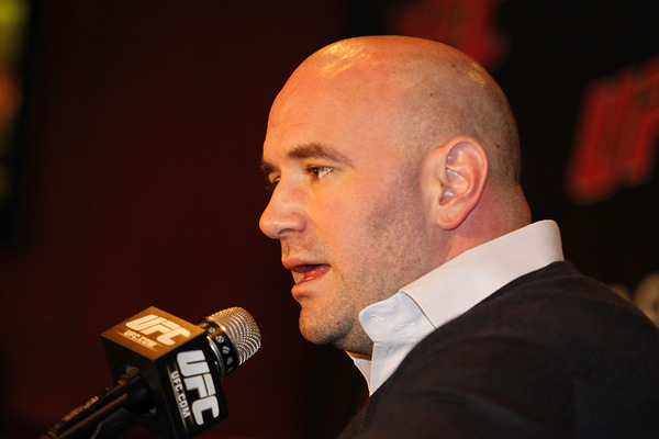 NEW YORK NY:  Dana White UFC President speaks during a press conference to announce commitment to bring UFC to Madison Square Garden and New York State at Madison Square Garden in New York City.  (Photo by Michael Cohen/Getty Images)