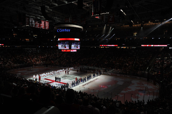 RALEIGH NC - JANUARY 30:  The Canadian Tenors perform the Canadian National Anthem prior to the start of the 58th NHL All-Star Game at RBC Center on January 30 2011 in Raleigh North Carolina.  (Photo by Harry How/Getty Images)