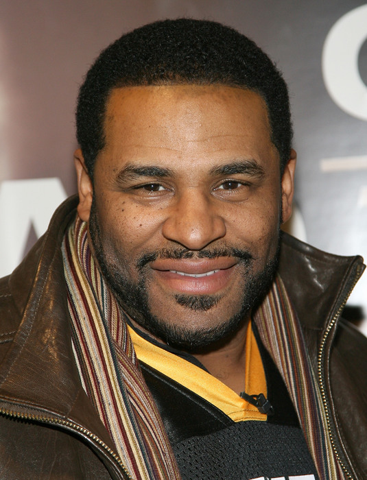 ARLINGTON TX - FEBRUARY 03:  Former NFL player Jerome Bettis competes in the Guinness Perfect Pint Pour-Off at Buffalo Wild Wings on February 3 2011 in Arlington Texas.  (Photo by Maury Phillips/Getty Images for Guinness)
