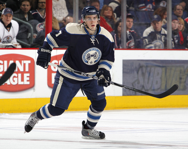 John Moore had a taste of the NHL this season, but can he show what it takes to become a full time Blue Jacket?(Photo by Gregory Shamus/Getty Images)