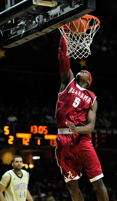 NASHVILLE TN - FEBRUARY 10:  Tony Mitchell #5 of the Alabama Crimson Tide dunks against the Vanderbilt Commodores at Memorial Gym on February 10 2011 in Nashville Tennessee.  (Photo by Grant Halverson/Getty Images)