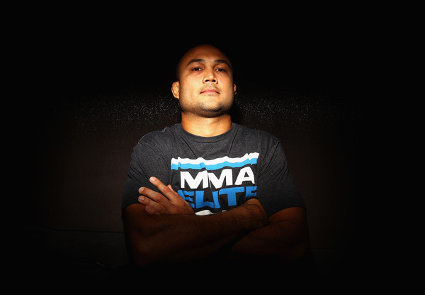 SYDNEY AUSTRALIA - FEBRUARY 23:  BJ Penn of the USA poses during a Press Conference ahead of UFC 127 at Star City on February 23 2011 in Sydney Australia.  (Photo by Ryan Pierse/Getty Images)