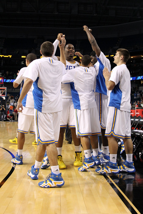 """<strong>Joshua Smith """"agrees"""" that UCLA students """"should vote NO"""" on proposal to banish them behind the basket  </strong>(Photo by Mike Ehrmann/Getty Images)"""