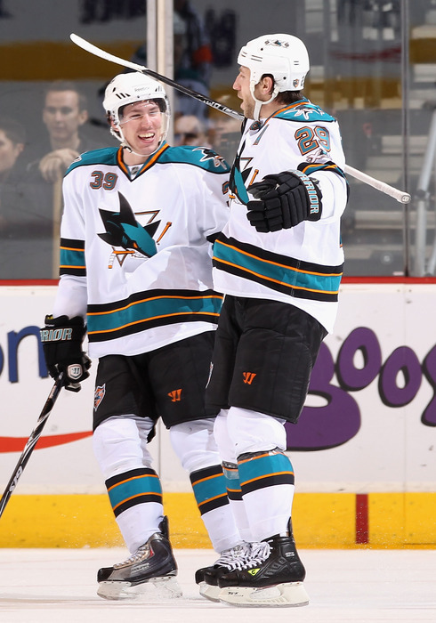 <em>Ryane Clowe and Logan Couture led the team through a rocky first half last season; now, they will play with speedy winger Martin Havlat who will add a dynamic presence to their already sterling 5v5 play.</em>