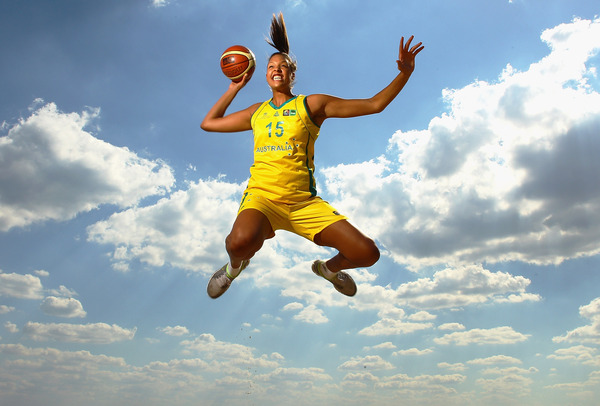 Liz Cambage was nowhere to be found tonight. She was probably too busy flying in the clouds....