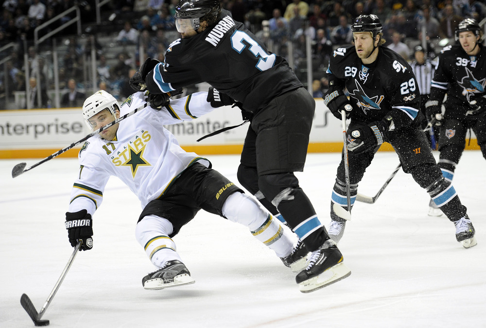 <em>Douglas Murray leads the Sharks in blocked shots this postseason with 23.</em>